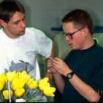 Der Lehrling und sein Meister: Peter Zech und Uli Lamott in meiner Werkstätte