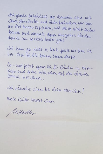 Brief von Klientin 2